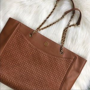Tory Burch Bryant Quilted Leather Tote.